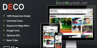 Deco Mag Responsive Magazine Blogger Template