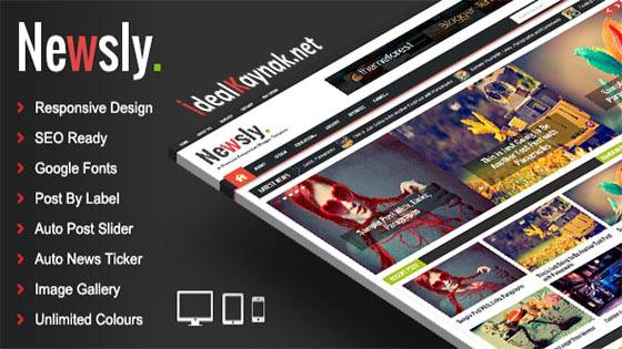 Newsly Responsive Multipurpose Blogger Template