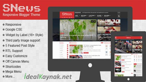 SNews News/Magazine Responsive Blogger Theme